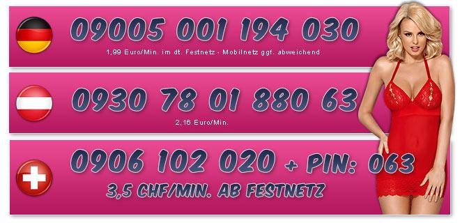 Telefonsexnummern von knackigen Teens