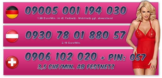 Telefonsexnummern von Studentinnen